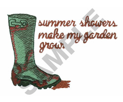 SUMMER SHOWERS embroidery design
