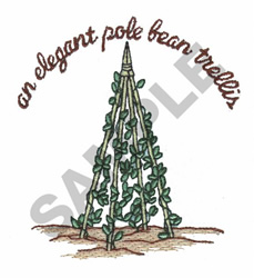 ELEGANT POLE BEAN TRELLIS embroidery design