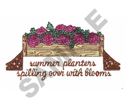 SUMMER PLANTERS embroidery design