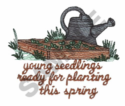 YOUNG SEEDLINGS embroidery design