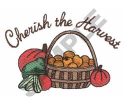 CHERISH THE HARVEST embroidery design