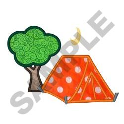 Camping Applique embroidery design