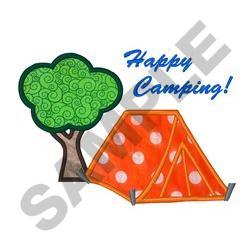 Happy Camping Applique embroidery design
