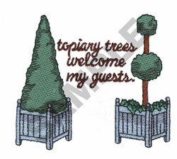 TOPIARY TREES embroidery design