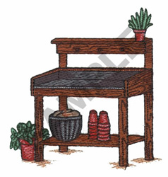 WOODEN STAND embroidery design
