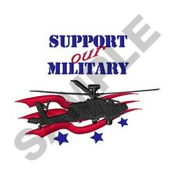 Support Our Military embroidery design