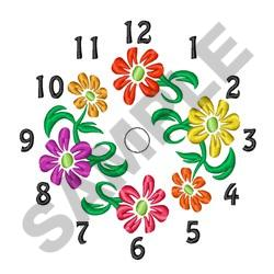 Flower Clock Guide embroidery design