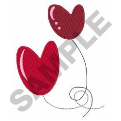 HEART BOUND BALLOONS embroidery design