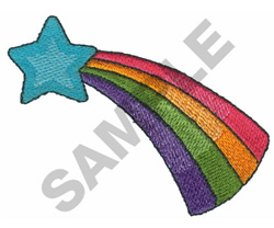 STAR W/RAINBOW embroidery design