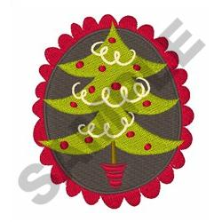 CHRISTMAS TREE MEDALLION embroidery design