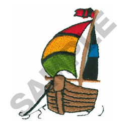 SAILBOAT embroidery design