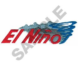 EL NINO embroidery design