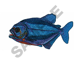 PIRANHA embroidery design