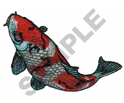 KOI embroidery design
