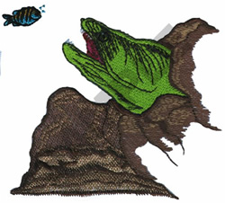MORAY EEL embroidery design