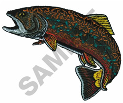 BROOK TROUT embroidery design