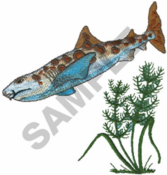 LEOPARD SHARK FISH embroidery design