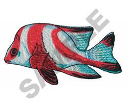 RED EMPEROR FISH embroidery design