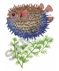 PORCUPINE FISH embroidery design