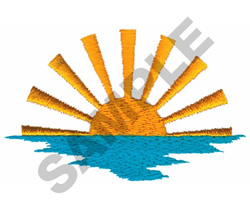 SUNSET OVER WATER embroidery design