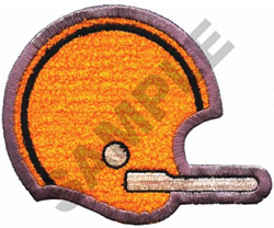 FOOTBALL HELMET APPLIQUE embroidery design