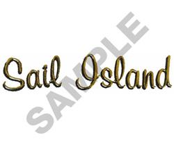 SAIL ISLAND embroidery design