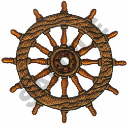 NAUTICAL WHEEL embroidery design