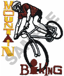 MOUNTAIN BIKING embroidery design