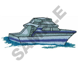 SPEEDBOAT embroidery design