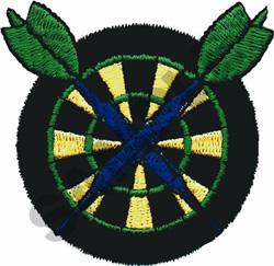 DART BOARD & DARTS embroidery design