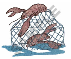 LOBSTERS embroidery design