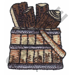 FIREWOOD embroidery design