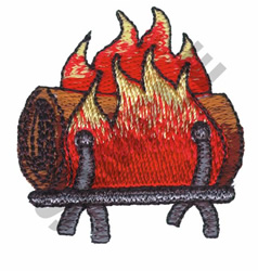 LOG ON FIRE embroidery design