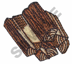 FIRE LOGS embroidery design