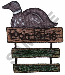 LOON LODGE embroidery design