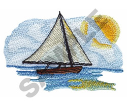 SAILBOAT SCENE embroidery design