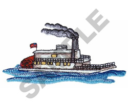 STEAMBOAT embroidery design
