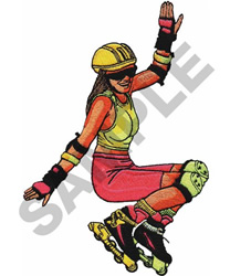 ROLLERBLADER embroidery design