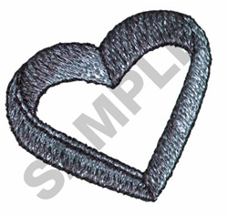 HEART COOKIE CUTTER embroidery design