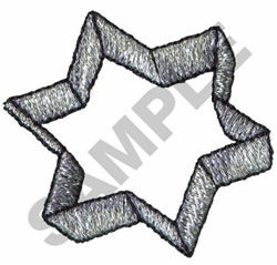 STAR COOKIE CUTTER embroidery design