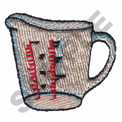 MEASURING CUP embroidery design