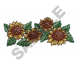 SUNFLOWER BORDER embroidery design