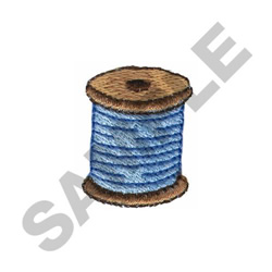 SPOOL OF BLUE THREAD embroidery design