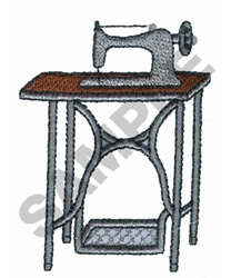 OLD FASHION SEWING MACHINE embroidery design