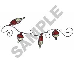 FISHING BOBBER BORDER embroidery design