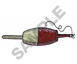 FISHING BOBBER embroidery design