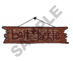BAIT & TACKLE embroidery design