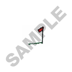 GOLFER FLAG embroidery design