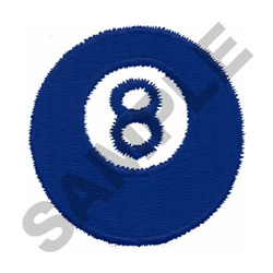 EIGHTBALL embroidery design