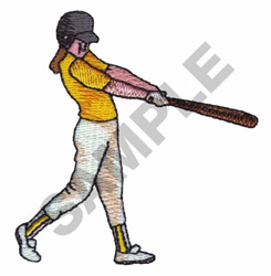 SOFTBALL PLAYER embroidery design
